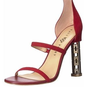 🆕 Katy Perry The Vilan Heeled Sandal, Red, size 8